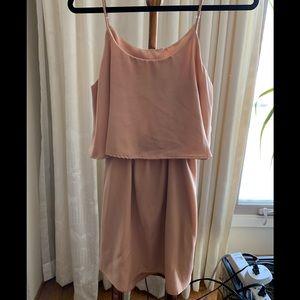 Tobi blush flounce Mini Dress